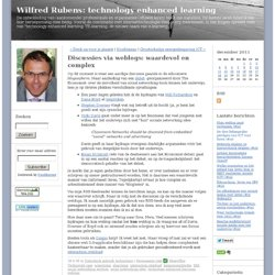 Wilfred Rubens: technology enhanced learning: Discussies via web