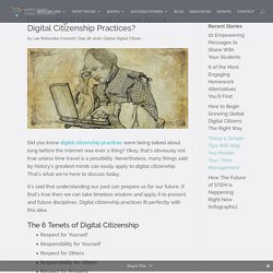 Discussing 6 Historical Quotes About ... Digital Citizenship Practices?