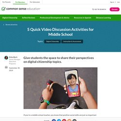 5 Quick Video Discussion Activities for Middle School