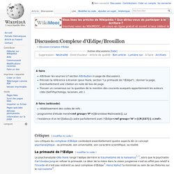 Discussion:Complexe d'Œdipe/Brouillon