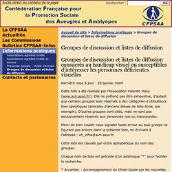 Groupes de discussion et listes de diffusion