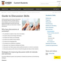 Guide to Discussion Skills