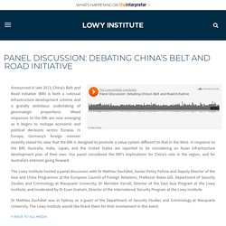 Panel Discussion: Debating China's Belt and Road Initiative