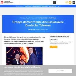 Orange dément toute discussion avec Deutsche Telekom