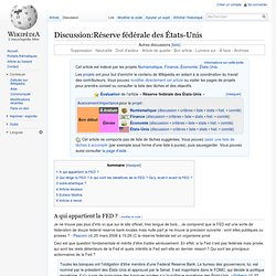 Discussion:Réserve fédérale des États-Unis