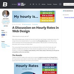 A Discussion on Hourly Rates in Web Design