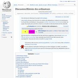 Discussion:Histoire des ordinateurs
