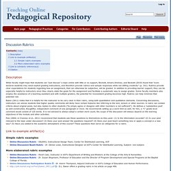 Discussion Rubrics - Pedagogical Repository