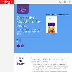 Discussion Questions for Holes