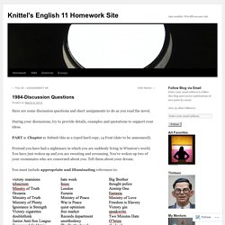 Knittel's English 11 Homework Site