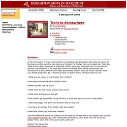 Discussion Guide for Train to Somewhere published by Houghton Mifflin Company