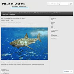 Best Job In the World – Discussion and Writing « designer lessons