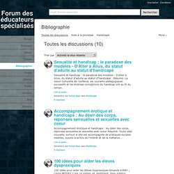 Toutes les discussions - - Forum des écudateurs spécialisés