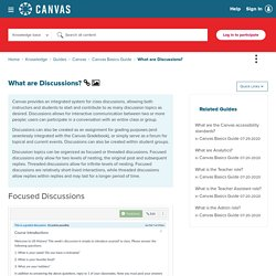 What are Discussions? - Canvas Community