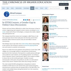 In STEM Courses, a Gender Gap in Online Class Discussions