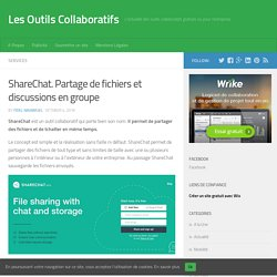 ShareChat. Partage de fichiers et discussions en groupe