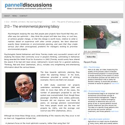 Pannell Discussions » 213 – The environmental planning fallacy