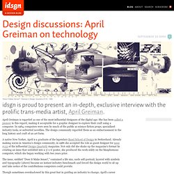 Design discussions: April Greiman on technology
