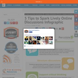 5 Tips to Spark Lively Online Discussions Infographic - e-Learning Infographics