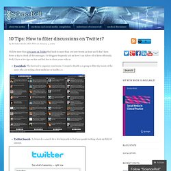 10 Tips: How to filter discussions on Twitter?