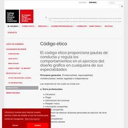Código ético de los diseñadores gráfico Col·legi Oficial Disseny Gràfic de Catalunya