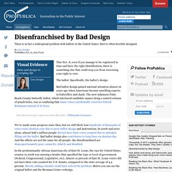 Disenfranchised by Bad Design