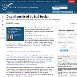 Disenfranchised by Bad Design