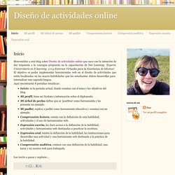 Diseño de actividades online: Inicio