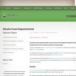 Diseño Cuasi-Experimental