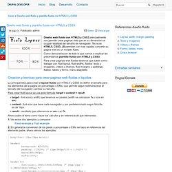 Diseño web fluido y plantilla fluida con HTML5 y CSS3