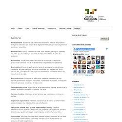 Diseño Sostenible : Glosario