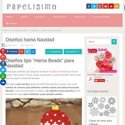 Diseños hama Navidad - Papelisimo