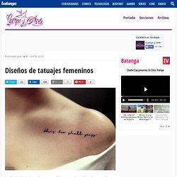 Diseños de tatuajes femeninos