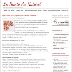 Que disent vos ongles sur votre état de santé ?