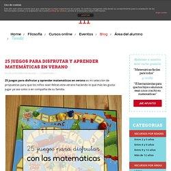 25 juegos para disfrutar y aprender matemáticas en verano