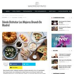 Dónde disfrutar los mejores brunch de Madrid - Madridistinto