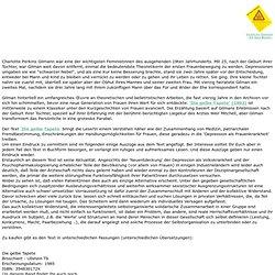 Depression Frauen. Auszüge aus dem Text 'Die gelbe Tapete' von Charlotte Perkins Gilman, ein Text über: Depression Sexismus Patriarchat Arzt Medizin Norm Frauen Abweichung Disfunktionalität Selbstabwertung Widerstand. Normierung Subjekt Entpolitisierung F