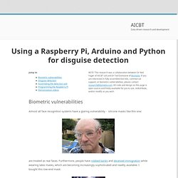 Disguise detection using open source