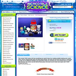 YUCK! Disgusting Science Kit at Incredible Science