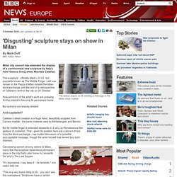 BBC News - 'Disgusting' sculpture stays on show in Milan
