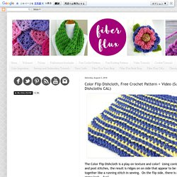 Color Flip Dishcloth, Free Crochet Pattern + Video (Summer of Dishcloths CAL)