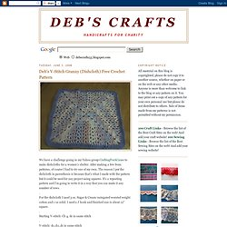 Deb's V-Stitch Granny (Dishcloth) Free Crochet Pattern