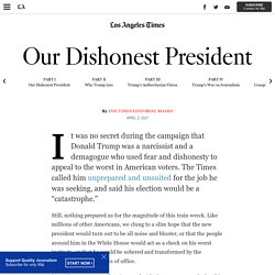 Our Dishonest President - Los Angeles Times