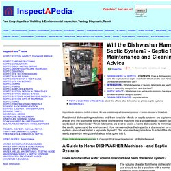 Guide to dishwasher machines and septic systems