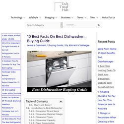 10 Best Facts On Best Dishwasher: Buying Guide - TechTravelHub