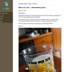 Make your own….dishwashing paste! - Degrowth - Vegoa