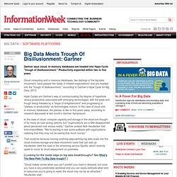 Big Data Meets Trough Of Disillusionment: Gartner