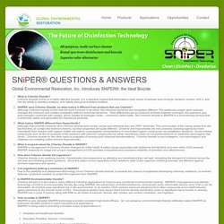 SNiPER® - the Ideal Biocide -Disinfectant Information, Technical Questions
