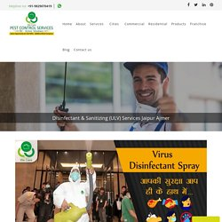 Disinfectant Sanitizing Services Ajmer Jaipur, ULV Spray Treatment for Corona Virus