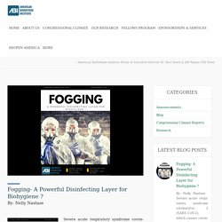 Fogging- A Powerful Disinfecting Layer for Biohygiene ?